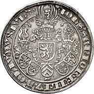 Nr. 5512: Jülich-Berg. Johann III., 1511-1539. Guldengroschen o. J., Münzstätte vmtl. Mühlheim. Äußerst selten. Sehr schön bis vorzüglich. Taxe: 60.000,- Euro.