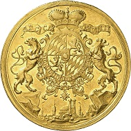 No. 7750: Bavaria. Charles Albert, 1726-1745, Emperor Charles II since 1742. 20 ducats 1739, Munich. Extremely rare. Extremely fine. Collection of Bavarian gold rarities. Estimate: 50,000 euros.