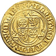 No. 8066: Mainz. John I of Luxembourg-Ligny, 1371-1373. Goldgulden n. d., Bingen. Very rare. Very fine +. Eberhard Link collection. Estimate: 2,000 euros.