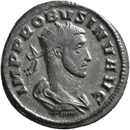 "No. 1521. Antoninian, Siscia, second issue, 276. From Jacquier auction 45. Very rare. Very fine. Estimate: 125,- euros. On the basis of his Illyrian origin, this coinage from Siscia (= today's Sisak / Croatia) honors Probus as one of their own with the inscription ""AVG NOSTRI"" – Our emperor. At that time, there was no mint in Sirmium, his actual place of birth, yet."