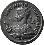 No. 1480. Antoninian, Rome, second issue, 277. From Jacquier auction 45. Nearly extremely fine / Very fine. Estimate: 200 euros. It is still being discussed whether Probus made a slight detour to Rome while his troops were moving towards the Rhine. The coins indicate that he did.