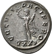 No. 1433. Antoninian, Ticinum, fourth issue, 278, From Jacquier auction 45. Rare. Extremely fine. Estimate: 250 euros.