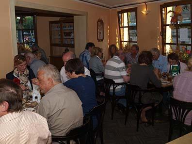 Abendessen im Nikolaiviertel.