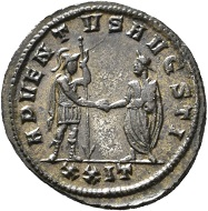 No. 1555. Antoninian, Siscia, fourth issue, first phase of 277. From Jacquier auction 45. Unedited. Extremely fine. Estimate: 500 euros. The Gysen collection contains numerous unedited coins of Probus or pieces which are now being cited and illustrated in numismatic works of major importance.