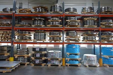 Das Lager mit speziell für Victorinox hergestelltem Stahl. Foto: UK.