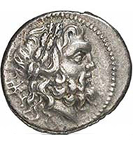 Koinon of Epirus. Drachm, around 210 B, C. Head of Zeus r. Rev. Eagle on thunderbolt, surrounded by an oak wreath. Franke 32-91. From auction Gorny & Mosch 191 (2010), 1394.