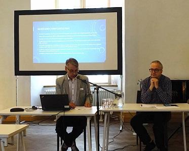 Ivar Leimus (l.), Organisator des Kongresses, und Georges Depeyrot (r.), Initiator und Leiter von DAMIN. Foto: UK.