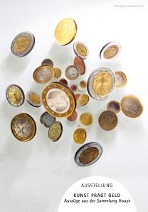 """Thomas Ellers Werk """"THE bounty (Euro)"""" aus dem Jahr 2012 auf den Plakaten der Ausstellung."""