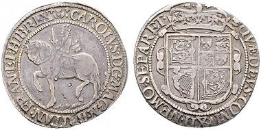 Lot 7621: Great Britain. Charles I. Half Crown (1625-1649). VF-/VF. Starting bid: 120 euros.