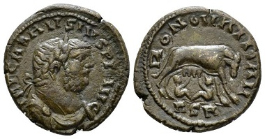 Lot 556: Carausius, 287-293. Denarius (billon), circa 286-293, Londinium. Very rare, attractive brown tone and Extremely Fine. Starting bid: 500 GBP.