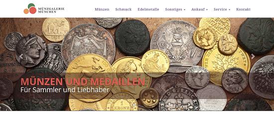 Die neue Homepage des 1975 gegründeten Fachgeschäfts für Münzen, Medaillen, Fachliteratur, Edelmetalle und hochwertigen Schmuck.
