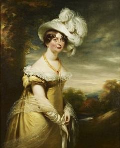 A portrait of Princess Augusta Sophia by William Beechey.