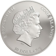 Cook Islands / 10 Dollar / Silber .999 / 2 Unzen / 50 mm / Auflage: 499.