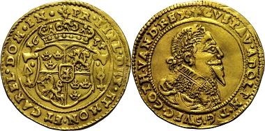 Dukat 1634, Schweden-Erfurt, Gustav II. Adolf von Schweden (1611-1632), 2.499,-.
