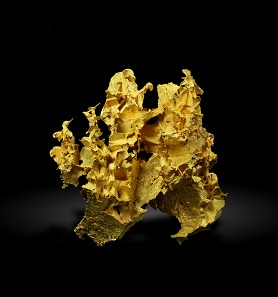 "Crystalized gold from Australia as seen in the ""Elemente"" exhibition."