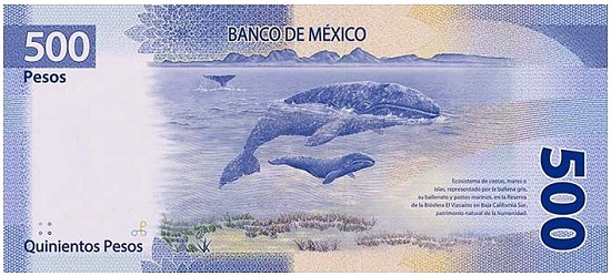 The new 500 peso banknote features an image of Benito Juárez. Courtesy of the website of the Banco de Mexico.