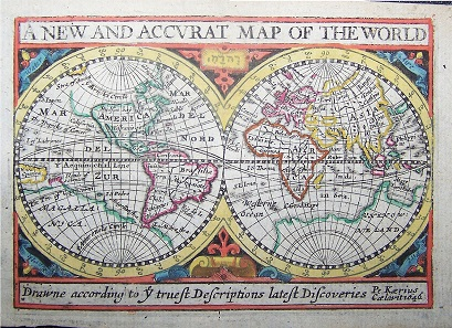 The New and Accurate Map of the World by John Speed.