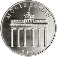 Die Gedenkprägung Himmelsscheibe von Nebra in .999 Silber.