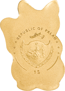 Palau / 1 dollar / gold .9999 / 0.5 g / 13.92 mm / Mintage: 15,000.