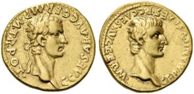Nr. 750: Römische Kaiserzeit. Caligula, 37-41 n. Chr. Aureus, 37 n. Chr. Selten. Gutes sehr schön. Taxe: 25.000,- Euro.
