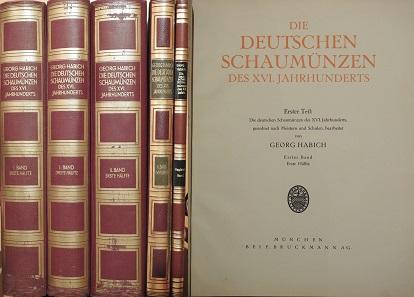 Lot 382: Habich (1929-1934): Die deutschen Schaumünzen.
