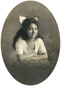 Salote Topou at the age of 8.