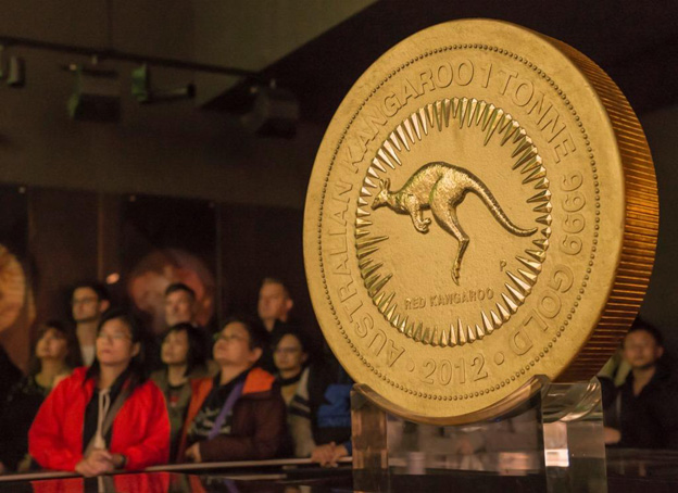 The heaviest coin in the world cast from more than a ton of pure gold. Its value of raw material amounted to exactly 33,228,863.87 euros (=39,119,583.12 USD) on September 25, 2018. At this value, it may well also qualify for the record of the most expensive coin in the world.