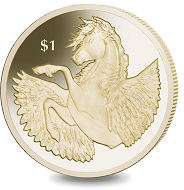 The new Pegasus coin is made in Virenium, an alloy developed and produced exclusively by Pobjoy Mint.