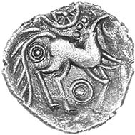 Odin's Eye silver unit of the Iceni, c.50-30 BC, ABC 1537 var. Only five recorded. Found in East Anglia, 2011. Source: Chris Rudd.