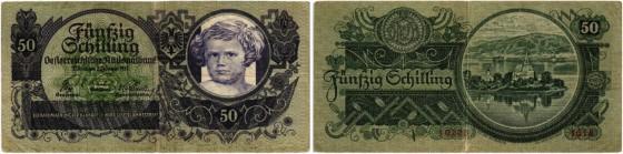 Los 5340. Österreichische Nationalbank, 50 Schilling 1935.
