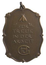 Treudienst-Auszeichnung der Firma Gebrüder Heine in Leipzig 1922.