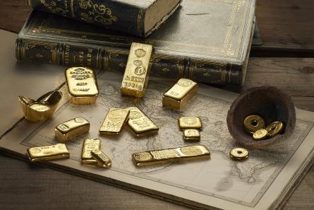Die beeindruckende Goldbarren-Sammlung der Degussa darf bei den CoinsWeekly Coin Records nicht fehlen.