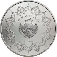 Republic of Palau / 10 dollars / silver .999 / 2 oz / 38.61 mm / Mintage: 888.