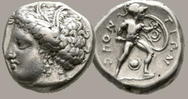 Lokris. Locri Opuntii. Stater, 370-360 BC. very fine.