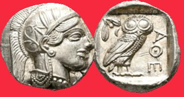 Attica. Athens. Tetradrachm, circa 454-404 BC. extremely fine.