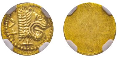 No. 2 – Populonia (Etruria). 25 litra, 350-300. NGC MS 5/5-4/5. Estimate: 4,000 euros.