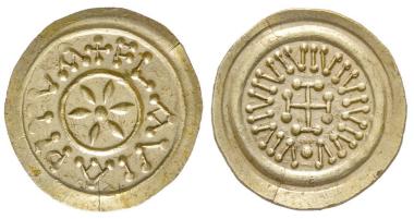 Nr. 463: Lombarden. Tremissis, Pistoia, 8. Jh. Unpubliziert. Vorzüglich. Taxe: 8.000,- Euro.