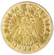 Deutsch-Ostafrika. 15 Rupien Gold 1916. Mit Gutachten. ss.+. Ausruf: 2.000 Euro.