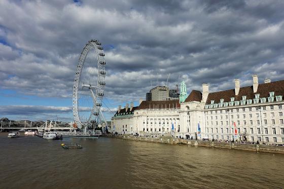Das weltberühmte London Eye befindet sich direkt neben der County Hall. Foto: UK.