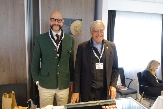 Auch aus Italien reiste man nach London. Hier Mathias und Giovanni Paoletti von Paoletti S.r.l. Foto: UK.