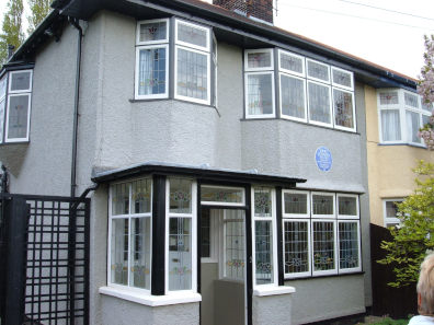"John grew up at ""Mendips"", the house at 251 Menlove Avenue in Liverpool. Here, he wrote some of the first Beatles songs – and pursued his childhood hobby, philately. Photo: Havaska / CC BY-SA 3.0."