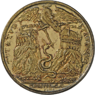 Medaille auf die konfessionellen Konflikte, um 1620, Landesmuseum Württemberg.