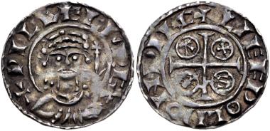 "Lot 547: Norman. William I ""the Conqueror"". 1066-1087. Penny. Paxs type (BMC viii). Winchester mint; Leofweald, moneyer. Struck circa 1083-1086. Good VF. Estimate: $500."