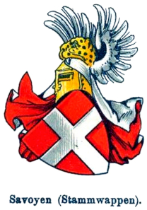 The Coat of Arms of the Dukes of Savoy.