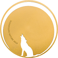 "The howling wolf from the ""Mongolian Nature"" series of 2013. The very emotional depiction together with the innovative cutting technique developed specifically for this series earned this coin the COTY award for ""Most Innovative Coin 2013""."