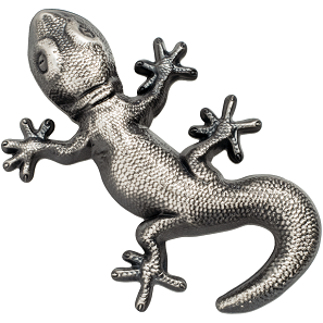 The gecko – an unusual coin edition which comes in an unusual packaging.
