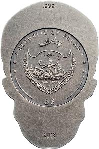 Palau / 5 Dollar / Silber .999 / 1 Unze / 25,5 x 38,3 mm / Auflage: 1750.