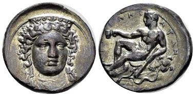 Lot 27: Bruttium, Croton. Nomos, circa 380-350 B.C. Very rare. Good Very Fine. Starting bid: 1,150 GBP.