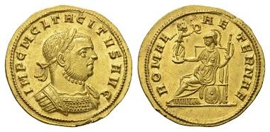 Los 118: Kaiserzeit. Tacitus. Aureus, 275-276 n. Chr.