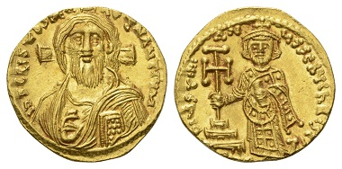 Los 140: Byzanz. Justinianus II. Solidus, 692-695 n. Chr.